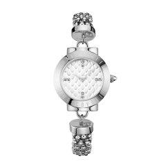 JUST CAVALLI/JUST CAVALLI 网红款 蛇纹菱格闪电指针设计钢带防水石英手表女 jc手表图片