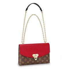 Louis Vuitton/路易威登  女士黑、樱桃红、棕红、蜜桃粉、奶白色、焦糖色帆布/牛皮单肩包SAINT PLACIDE 手袋M43714图片