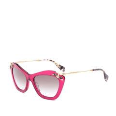 MiuMiu/缪缪太阳镜 SMU03P女士蝶形镜框镶钻墨镜 金属细腿眼镜图片