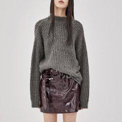 MO&Co./摩安珂女士针织衫/毛衣MOCO2018秋季新品纯色破洞套头羊毛毛衣MA183SWT325图片