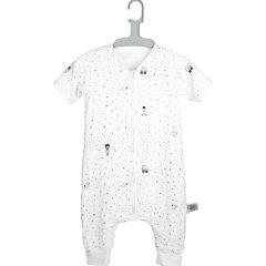 zolitt婴儿秋季款棉儿童四层纱布分腿睡袋新生儿宝宝防踢被连袖 柔软吸湿 透气 拉链领口图片