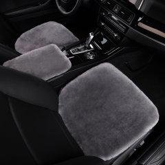 NATU 汽车新款冬季澳洲进口羊毛三件套坐垫   汽车皮毛一体毛绒坐垫  纯羊毛座垫图片