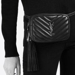 Yves saint Laurent/圣罗兰 Lou 绗缝小牛皮纯色女士腰包  五色可选图片