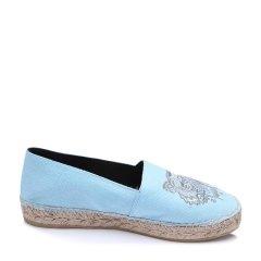 KENZO/高田贤三白色帆布材质经典logo提花女士平跟鞋,2ES180 F50  05 BEIGE WOMAN SHOES 40图片