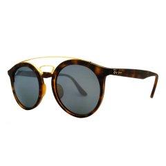 Ray-Ban/雷朋 男女款太阳镜 RB4256F 609系列 52mm 复古文艺时尚街拍圆形全框玳瑁色镜框彩色反光镜片墨镜眼镜图片