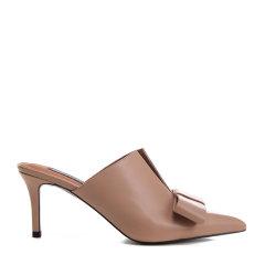 【17春夏】BENATIVE/本那胎牛皮领结装饰穆勒鞋女士凉拖BN01713859图片