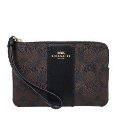 COACH/蔻驰 女士PVC配皮经典LOGO印花手拿包手包零钱包女包 F58035 多色可选图片