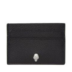 Alexander McQueen/亚历山大麦昆  黑色牛皮 小型皮具卡片夹 卡包 275333 BPT0G 1000图片
