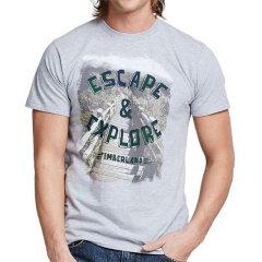 【包税】Timberland/添柏岚  户外男士字母图案圆领休闲短袖T恤 TB0A3K4R图片