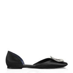 Roger Vivier/罗杰·维维亚女士 女鞋 平跟鞋Chips水钻丝缎芭蕾舞鞋图片