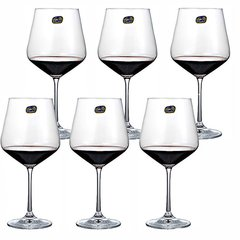 BOHEMIA Crystal 捷克进口波希米亚水晶玻璃高脚葡萄酒杯家用红酒杯6只彩盒装图片