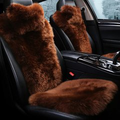 pinganzhe  汽车澳洲进口小蛮腰五件套羊毛坐垫 汽车冬季羊毛绒座垫 汽车座垫图片