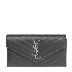 Yves saint Laurent/圣罗兰 女士牛皮暗扣钱包372264图片
