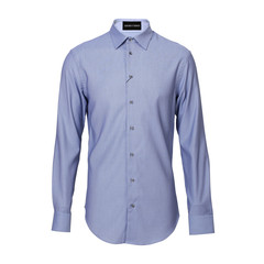 Emporio Armani/安普里奥阿玛尼 商务休闲 秋冬棉质尖领长袖衬衫 男士衬衫 U1C32TU115C图片