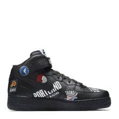 【奢品节可用券】耐克 AF1 情侣款 Air Force1 Mid Supreme NBA Black / White图片