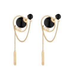 DIOR/迪奥 18秋冬新款Dior Tribales镀金金属和树脂圆珠耳环 (2色可选)图片