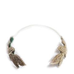 【Designer Jewelry】Avigail Adam美国纽约手工制造艺术风格女式Beaded系列串珠树叶女神发箍Beaded Leaves Goddess Headband图片
