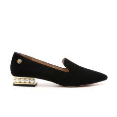DK UGG/DK UGG  平跟鞋 Rosalind 丝光牛反皮 尖头珍珠跟单鞋图片