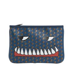 【包邮包税】Moynat/Moynat  19春夏女士新款怪物牙齿亚当帆布中号手拿包 三色可选 8HLH8BLUZZZZZ图片