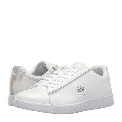 【包税】Lacoste/鳄鱼女鞋 小白鞋低帮系带皮质板鞋  女士休闲运动鞋  7-33SPW1024图片