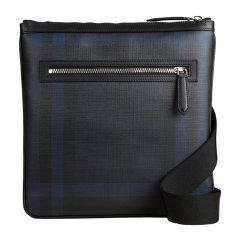 BURBERRY/博柏利 男士牛皮装饰 PVC烟熏格纹斜挎单肩包3996224图片