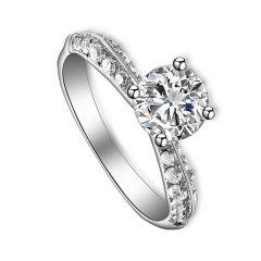 Magifas/Magifas  唯爱一生 0.8ct/1.0ct H色/E色 VVS2 VG 18K金钻石戒指 工期约15-20天图片