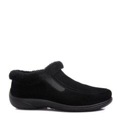 COZY STEPS/COZY STEPS 牛皮+羊皮毛一体女士平跟鞋 黑色 39图片