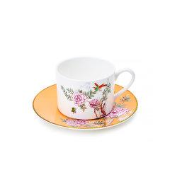 Miracle Dynasty/玛戈隆特 骨瓷 MD 中国花园嘎纳咖啡杯碟 骨瓷杯子碟子 创意简约 礼品礼盒包装图片