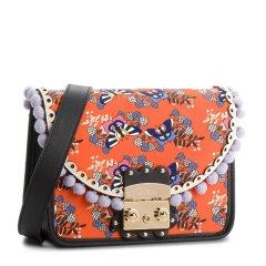 FURLA/芙拉 女士多彩图案花边装饰时尚印花小方包单肩包斜挎包 多色可选 女包图片