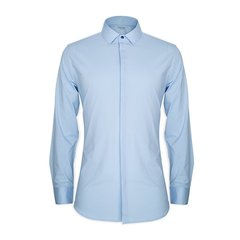 Degre Zero/零度 初心暗门襟男士长袖衬衫舒适版免烫棉衬衣图片