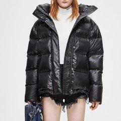 MO&Co./摩安珂女士羽绒服MOCO2018冬季新品立领拉链字母印花羽绒服MA184EIN105图片