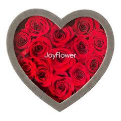 JoyFlower进口永生花礼盒生日礼物心形9朵/13朵花盒玫瑰花图片