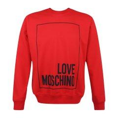 Love Moschino/Love Moschino  男士时尚休闲棉质圆领长袖字母印花卫衣 M647027 00Y99图片