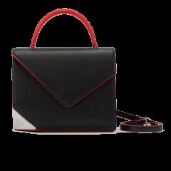 【Designer Bags】ZESH/泽尚  ELEGANTE 棱角系列中号皮革牛皮女士手提包套装 绿色 加赠1495链条包图片