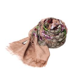 GUCCI/古驰 经典款式女式天竺葵粉色丝巾 417424 3G856 9965