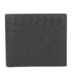 BottegaVeneta/葆蝶家编织折叠款男士两折式短款钱包170612咖啡色图片