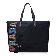 PRADA/普拉达 男士黑色尼龙手提包单肩包  2VG024 2ED3 F0002图片