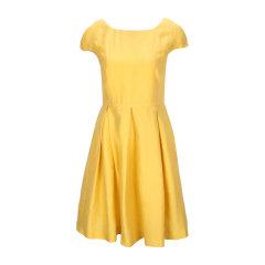 Max Mara/麦斯玛拉 WEEKEND黄色混合材质收腰女士连衣裙,BRAY 001 52210551000,40图片
