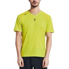 美国后秀/HOTSUIT 2019年夏 运动t恤 男短袖v领 新款修身透气吸汗休闲上衣图片
