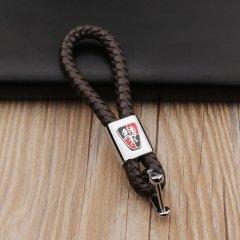 pinganzhe 荣威专用汽车新款带车标钥匙扣 手编织真牛皮钥匙链 钥匙圈锁匙环 男士女士 创意 汽车用品图片
