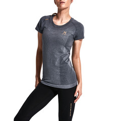 后秀/HOTSUIT 17年健身短袖女跑步运动服圆领T恤66094004图片