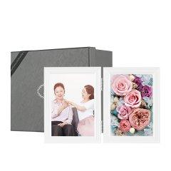 JoyFlower进口永生花礼盒永生花相框摆件礼物图片