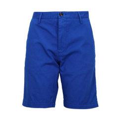 HUGO BOSS/雨果波士棕色混合材质纯色男士裤子休闲短裤图片