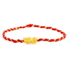 Magifas/Magifas 小貔貅 3D硬足金貔貅转运珠手工编织手绳手链图片