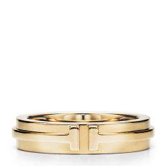 Tiffany & Co./蒂芙尼 T系列窄式18K金T Two 戒指图片