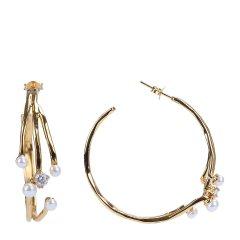 A&Y/A&Y 设计款手镯 metal系列 女士S925银欧美风配珍珠手镯 耳饰 戒指 三件套图片