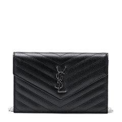 YSL/圣罗兰 女士牛皮金属logo单肩斜挎包图片