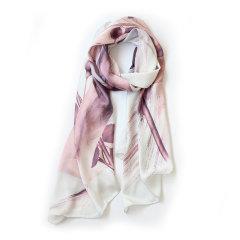 【1217可用券】Woo/妩爱情的祝福桑蚕丝丝巾图片