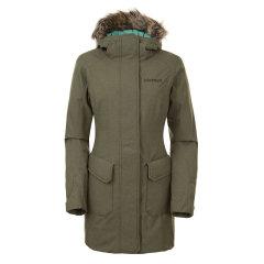 marmot/土拨鼠秋冬新款户外女防风防水透气保暖带帽中长款棉服J78230图片