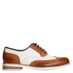 Quarvif/Quarvif 女式拼色牛津鞋/皮鞋【法国进口小牛皮胚 橡胶底】QWG71503图片